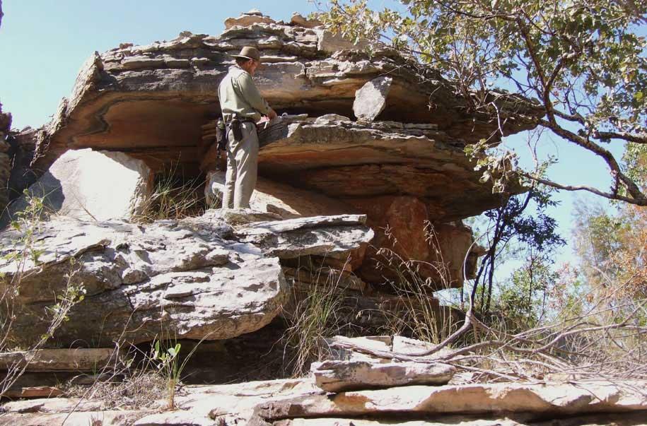 Author, ben Gunn, recording a standing stone.