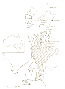 Places mentioned in the text (published in Australian Archaeology 52:47).