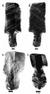 Type 1 stemmed artefacts possible broken during manufacture (published in Australian Archaeology 57:120).