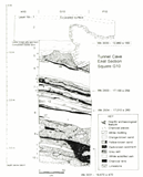 East stratigraphic section of Square G10, Tunnel Cave (published in Australian Archaeology 38:45).