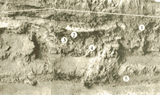 The pit feature in Cheetup east wall (published in Australian Archaeology 42:52).