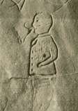 Detailed view of the balding man in a buttoned jacket image (published in Australian Archaeology 43:2).