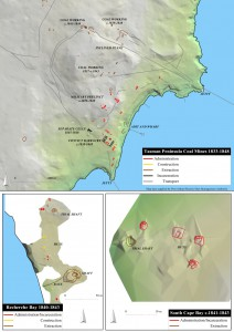 Identifying different convict labour settings in the landscape: An Tasmanian example.