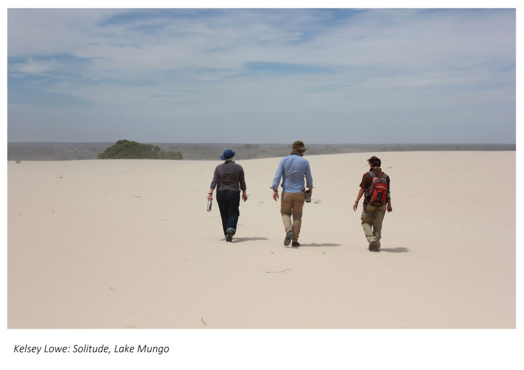 Archaeologists surveying in Willandra Lakes (NSW).