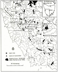 Sites in southwest Tasmania (published in Australian Archaeology 32:29).