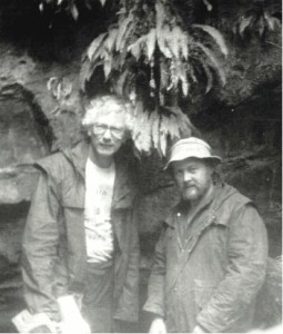 Tom Hayden (left) and Rhys Jones (right) in Tasmania (published in Australian Archaeology 35:61).